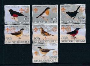 [105345] Benin private issue 2002 Birds vögel oiseaux scouting jamboree  MNH