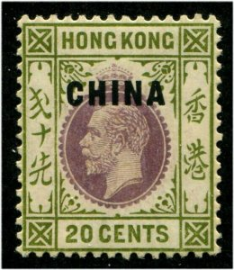HERRICKSTAMP GREAT BRITAIN - CHINA Sc.# 23 20¢ Superb LH