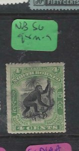 NORTH BORNEO  (P2601B) 4C GREEN MONKEY  SG 98   MOG