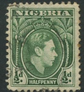 Nigeria -Scott 53 - KGVI Definitive -1938 - Used - Single 1/2p Stamp