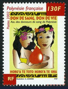 French Polynesia 827, MNH. Blood Donation, 2002