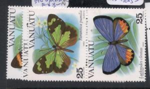 Vanuatu Butterflies SC 346-8 MNH (4dmk)