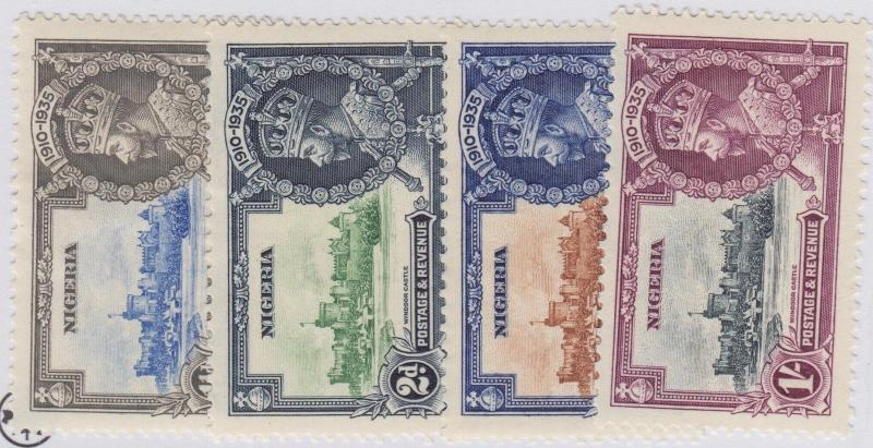 NIGERIA 34-37 MINT HINGED OG NO FAULTS EXTRA FINE