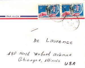 Upper Volta 30F WHO (2) 1969 Bobo-Dioulasso, Haute-Volta Airmail to Chicago, ...