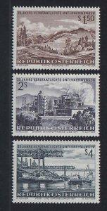 Austria 1971 #908-10 MNH. Industry