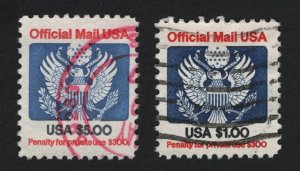 United States USED Scott Number O132 O133  F-VF  - BARNEYS