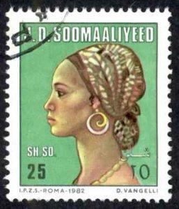 Somalia Sc# 521 Used 1982 25sh Somali Woman