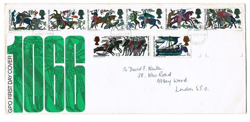 GREAT BRITAIN 1996 FDC - 900th ANNIV OF BATTLE OF HASTINGS, HASTINGS CANCEL
