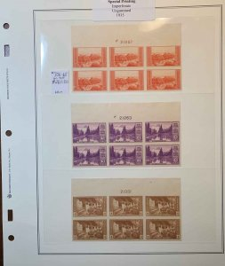 756-765 National Parks Plate Blocks of 6 all Tops, NGAI VF-XF NH