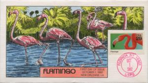 #2707 FDC 10/1/1992 FLORIDA, NY HAND PAINTED BY COLLINS CACHET BU1155
