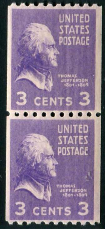 USA #851 Pair   Mint (NH)      ** Free shipping **
