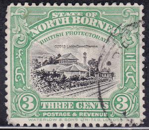 North Borneo 139 USED 1922 Train Station