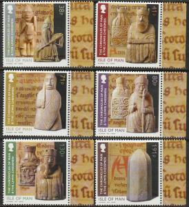 G.B.-ISLE OF MAN, 1536-1541 CHRONICLES OF MAN, SET OF 6. MINT, NH. F-VF. (59)