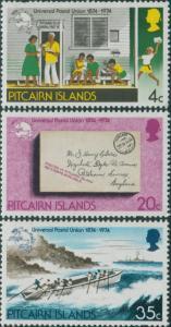 Pitcairn Islands 1974 SG152-154 UPU set MNH