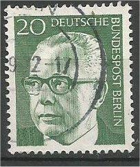 BERLIN, 1970, used 20pf Pres Heinemann Scott 9N287
