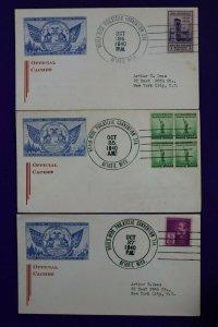 WW Philatelic Conv Sta Official Cover Detroit MI 1940 Exposition show Cachet