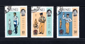 Brunei, Scott 165-167   VF,  Used, CV $4.00 .....0980077