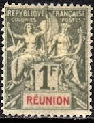 French Colonies, Reunion, #52, Unused, CV$ 47.00