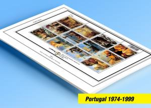 COLOR PRINTED PORTUGAL 1974-1999 STAMP ALBUM PAGES (270 illustrated pages)