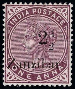 Zanzibar Scott 18 Variety Gibbons 23 Variety Mint Stamp