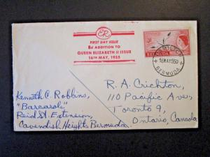 Bermuda 1955 8d Issue FDC - Z5083