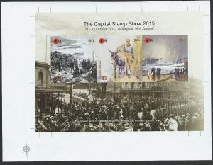 NEW ZEALAND 2015 Capital Stamp Show IMPERF PROOF SOUVENIR SHEET MNH........48100