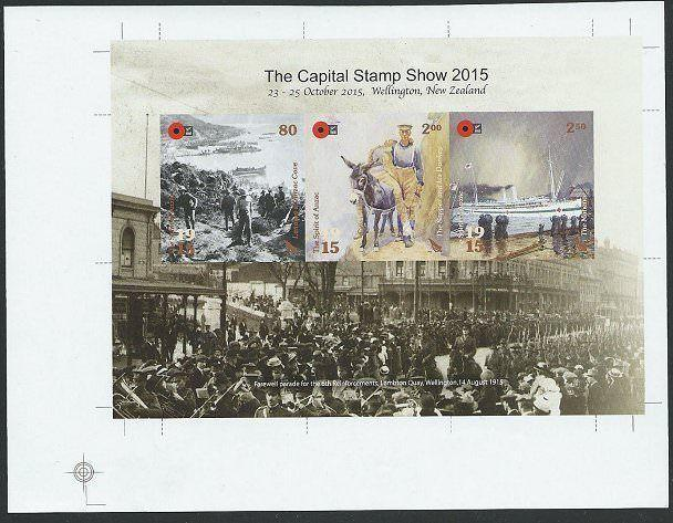 NEW ZEALAND 2015 Capital Stamp Show IMPERF PROOF SOUVENIR SHEET MNH........48100