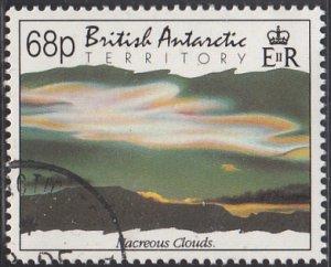 British Antarctic Territory 1992 used Sc #201 68p Nacreous clouds