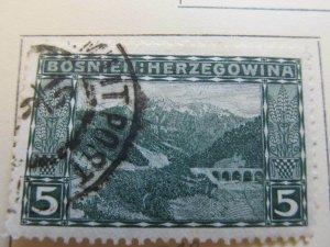 Bosnia & Herzegovina 1906 5h fine used stamp A13P17F24