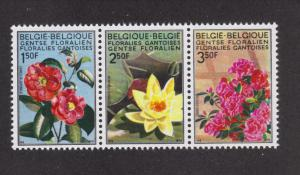 Belgium MNH 734-6 Flowers 1970
