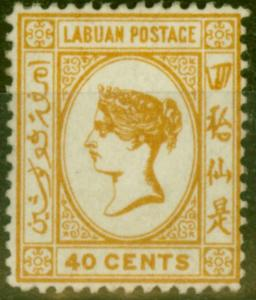Labuan 1894 SG57 40c Orange-Buff Fine Mtd Mint