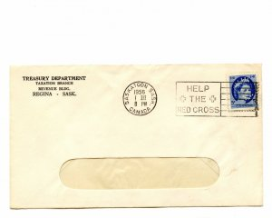 P15 on 1956 Wilding iss slogan small clean Canada cover