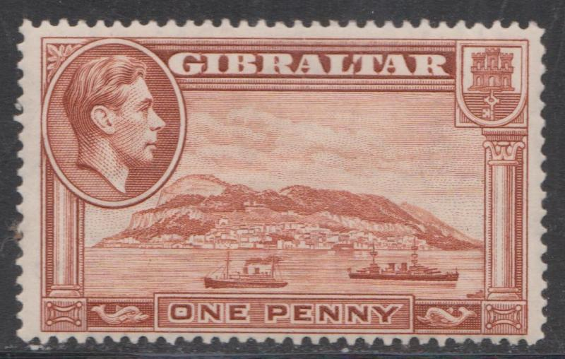 GIBRALTAR Scott # 108a - Mint Hinged - Perforation Variety Perf 14 x 14