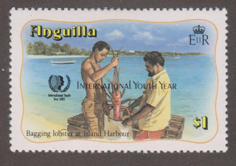 Anguilla 646 Bagging lobster, lsland Harbor O/P 1985