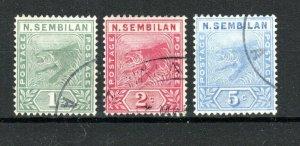 Malaysia - Negri Sembilan 1891-94 set to 5c FU CDS