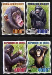 Guinea MNH 4222-5 Chimpanzees 2006