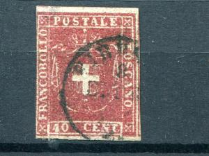 Tuscany  #21  Used F-VF   $350  - Lakeshore Philatelics