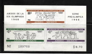 MEXICO, C320A, MNH, SS, OLYMPIC GAMES