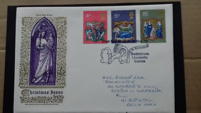 Great Britain FDC 1970 Christmas Issues