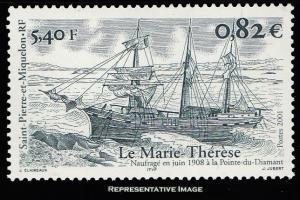 Saint Pierre & Miquelon Scott 713 Mint never hinged.