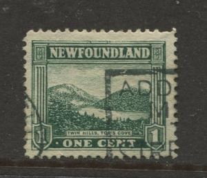 Newfoundland - Scott 131 - Pictorial Definitive - 1931 - FU - Single 1c Stamp