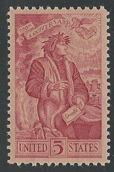 US Cat # 1268, Dante, MNH*-
