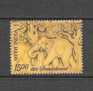 INDIA #2179  SANDALWOOD CARVING OF ELEPHANT   MNH