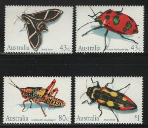 Australia 1991 Insects set Sc# 1211-14 NH