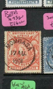 BRITISH EAST AFRICA  (PP1505B)   QV  LION  2R  SG 93 SON MOMBASA CDS  VFU