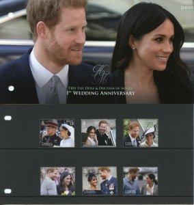 Jersey 2019 MNH Prince Harry Meghan 1st Wedding 6v Set Pres Pack Royalty Stamps