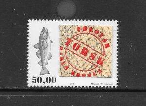 FISH - FAROE ISLANDS #668  MNH