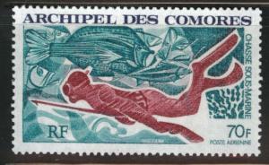 Comoro Islands Scott C44 MNH** 1972 spear fish airmail