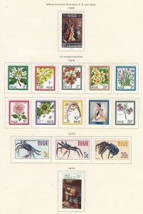 NIUE ^^^^^^^^1969-70  hinged   sets  ( TOPICALS  ++)  $$@ sc 201xxbf