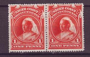 J20958 Jlstamps 1897-8 niger coast proct pair mlh #56 victoria